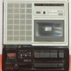 Radios antiguas: CASSETE RECORDER. PHILIPS N2219. NEDERLAND. CIRCA 1970.. Lote 58362346