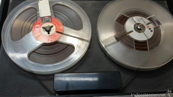Radios antiguas: Antiguo Grabador de cinta magnética años 50 - Foto 2 - 80914867
