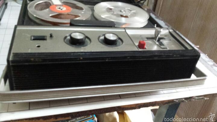 Radios antiguas: Antiguo Grabador de cinta magnética años 50 - Foto 4 - 80914867