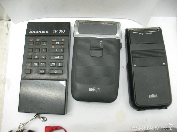 Radios antiguas: Lote de 3 móviles 2 máquinas eléctricas de afeitar 1 mando 1 radio - Foto 3 - 59256025