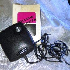 Radios antiguas: PILLOW SPEAKER PT-515. ALTAVOZ DE BOLSILLO ALMOHADA, JAPÓN, AÑOS 70. VINTAGE. PT515.. Lote 59669047