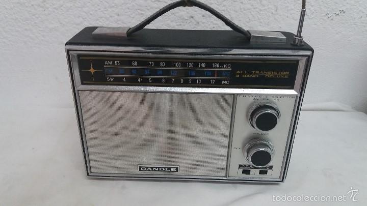 RADIO TRANSISTOR CANDLE (Radios, Gramófonos, Grabadoras y Otros - Transistores, Pick-ups y Otros)