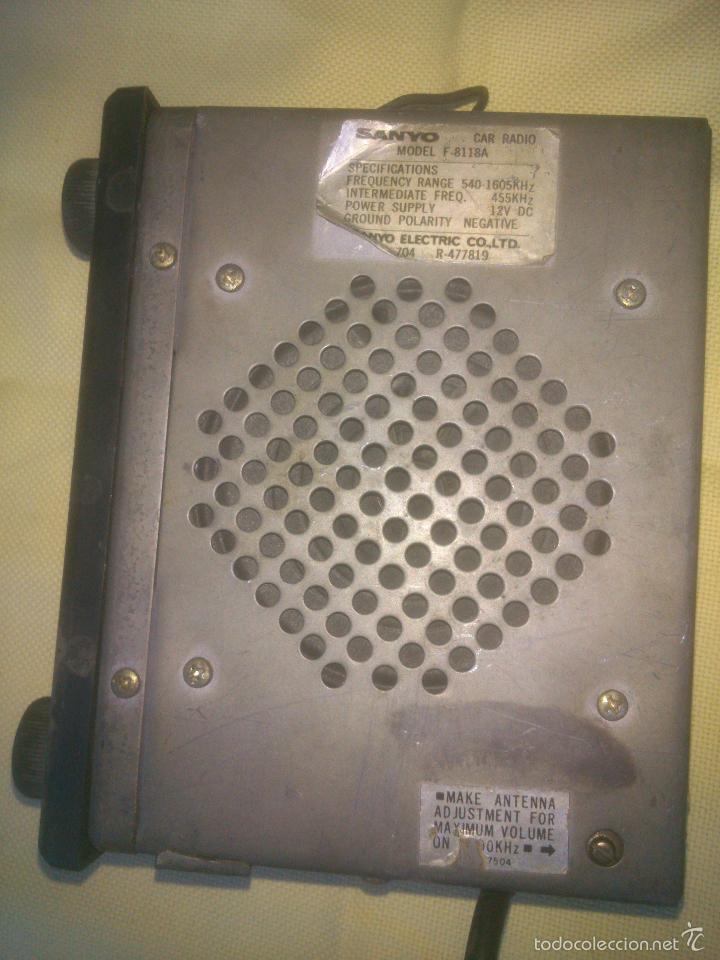 Radios antiguas: RADIO DE COCHE ANTIGUA VINTAGE SANYO - Foto 3 - 61227623