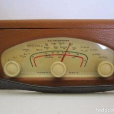 Radios antiguas: RADIO MALETIN ROBERTS 1ª RADIO A TRANSISTORES VINTAGE AÑO 1958 16X24CM 11CM ALTA FUNCIONADO. Lote 64052879