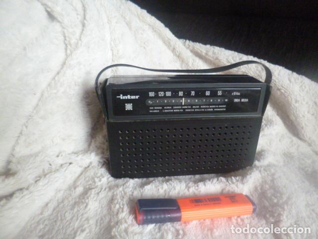 RADIO ANTIGUA INTER MADE IN SPAIN (Radios, Gramófonos, Grabadoras y Otros - Transistores, Pick-ups y Otros)