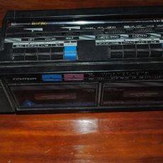 Radios antiguas: RADIO CASSETTE COMTECH AM/FM STEREO DOUBLE CASSETTE RECORDER.. Lote 66893786
