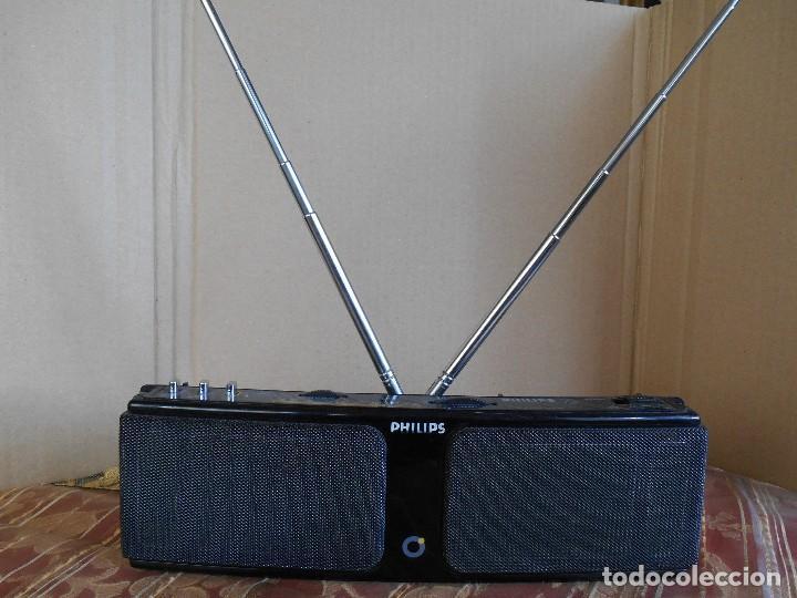 RADIO PHILIPS STEREO DE 26 X 8 CTM. RARA,FM Y AM., PILAS AA Y DC 6 V. (Radios, Gramófonos, Grabadoras y Otros - Transistores, Pick-ups y Otros)