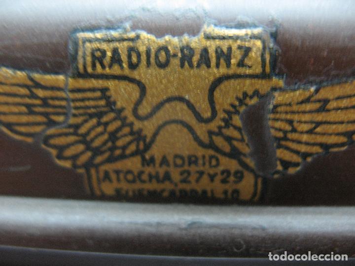 Radios antiguas: RADIO-RANZ - Antigua radio Madrid Atocha 27 y 29 - Foto 6 - 73989811