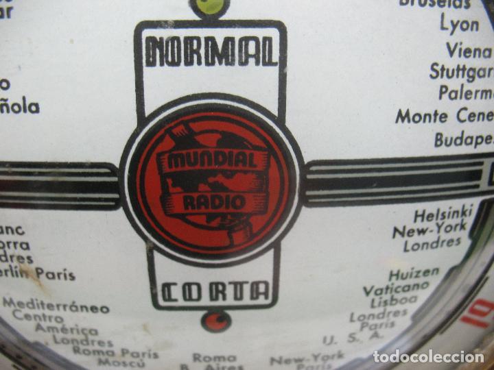 Radios antiguas: MUNDIAL RADIO Ref: M-52 - Antigua radio - Foto 5 - 74000119