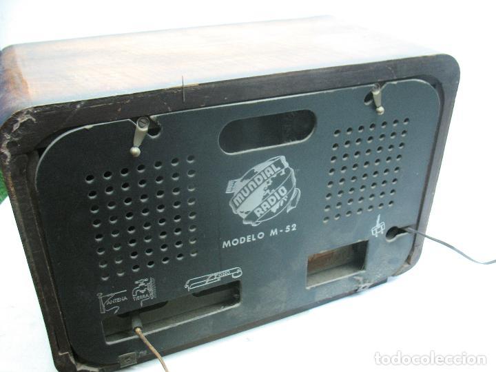 Radios antiguas: MUNDIAL RADIO Ref: M-52 - Antigua radio - Foto 6 - 74000119