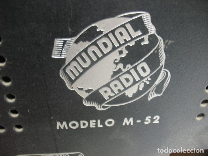 Radios antiguas: MUNDIAL RADIO Ref: M-52 - Antigua radio - Foto 7 - 74000119