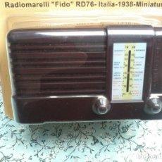 Radios antiguas: RADIO DE LA COLECCION RADIOS DE ANTAÑO - RADIOMARELLI FIDO RD76 - 1938 - MINIATURE. Lote 74165731