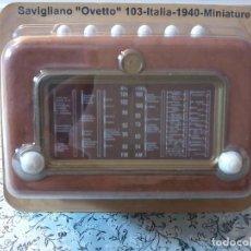 Radios antiguas: RADIO DE LA COLECCION RADIOS DE ANTAÑO - SAVIGLIANO OVETTO 103 - ITALIA -1940 - MINIATURE. Lote 74267747