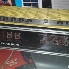 Radios antiguas: RADIO RELOJ DESPERTADOR SILVANO FUNCIONA. Lote 75103771