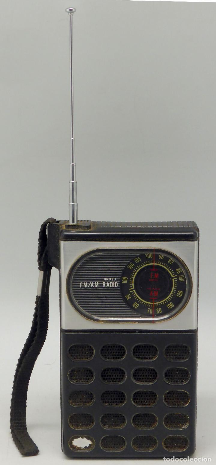 TRANSISTOR RADIO AM FM MADE IN JAPAN AÑOS 70 NO FUNCIONA (Radios, Gramófonos, Grabadoras y Otros - Transistores, Pick-ups y Otros)
