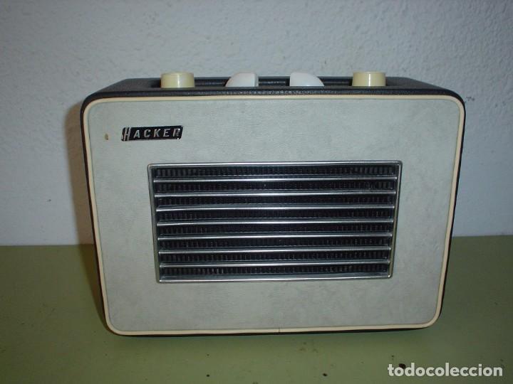 RADIO INGLESA HACKER MODELO R.P.10 L (Radios, Gramófonos, Grabadoras y Otros - Transistores, Pick-ups y Otros)
