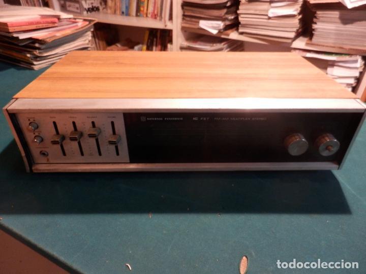 NATIONAL PANASONIC MODEL RE - 77208 FM-AM MULTIPLEX STEREO RADIO AMPLIFICADOR - VER FOTOS (Radios, Gramófonos, Grabadoras y Otros - Transistores, Pick-ups y Otros)
