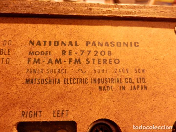 Radios antiguas: NATIONAL PANASONIC MODEL RE - 77208 FM-AM MULTIPLEX STEREO RADIO AMPLIFICADOR - VER FOTOS - Foto 9 - 78516409