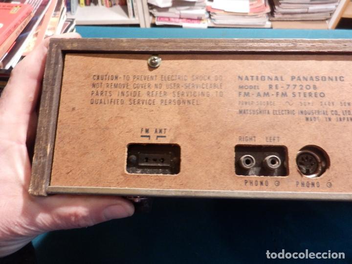 Radios antiguas: NATIONAL PANASONIC MODEL RE - 77208 FM-AM MULTIPLEX STEREO RADIO AMPLIFICADOR - VER FOTOS - Foto 10 - 78516409