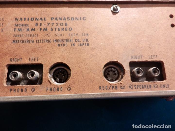 Radios antiguas: NATIONAL PANASONIC MODEL RE - 77208 FM-AM MULTIPLEX STEREO RADIO AMPLIFICADOR - VER FOTOS - Foto 11 - 78516409