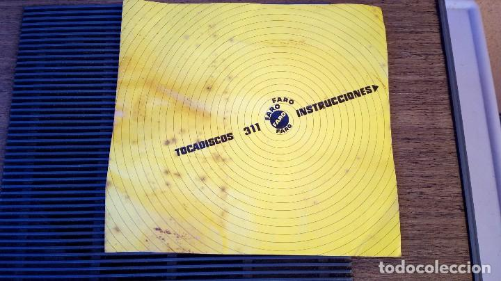Radios antiguas: TOCADISCOS FARO 311 FUNCIONA PERO SE ESCUCHA UN POCO BAJÓ Y GIRA UNA PIZCA LENTO - Foto 11 - 79172849