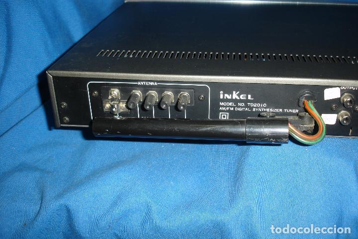 Radios antiguas: AM/FM DIGITAL SYNTHESIZER TUNER MARCA INKEL TD210 - Foto 5 - 80525585
