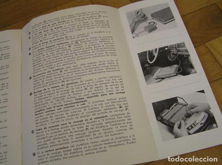 Radios antiguas: DICTAFONO OLYMPIA MADE IN GERMANY EN SU MALETIN - GRABADORA - Foto 20 - 80733418
