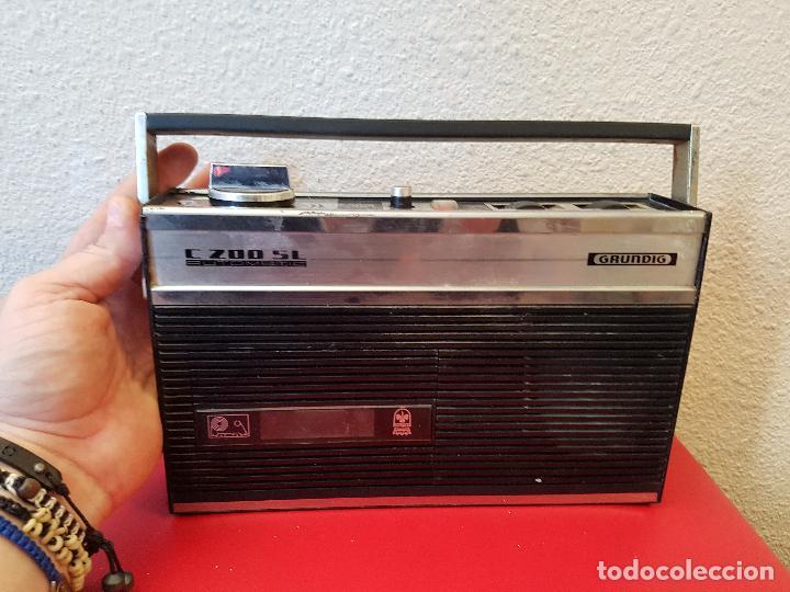 APARATO REPRODUCTOR CASSETTE TIPO RADIO ANTIGUA GRUNDIG C 200 SL C200SL AUTOMATIC (Radios, Gramófonos, Grabadoras y Otros - Transistores, Pick-ups y Otros)