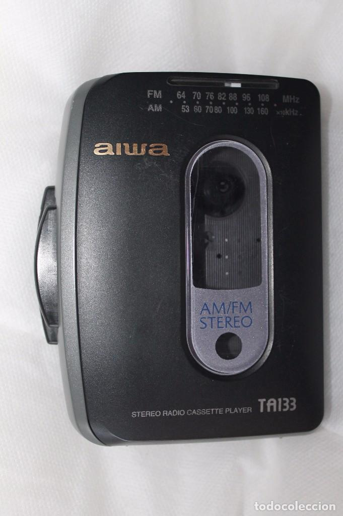 Radios antiguas: RADIO CASETTE AIWA-TA 133-Años 90 - Foto 5 - 82243568