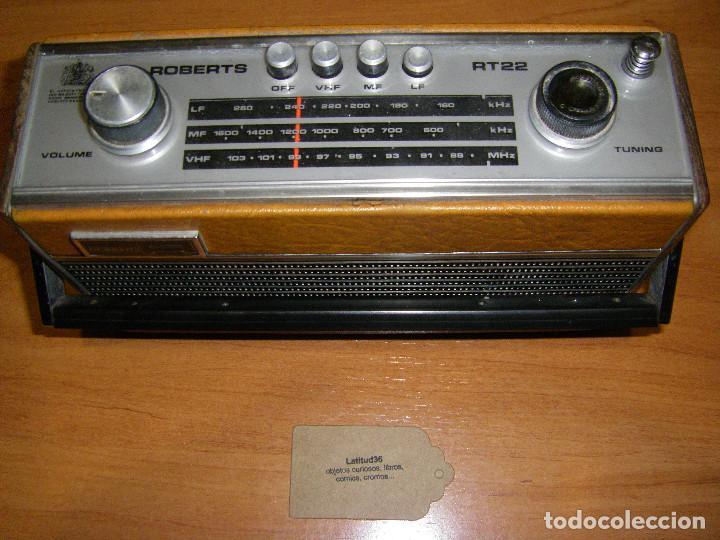 RADIO ROBERTS RT22 (Radios, Gramófonos, Grabadoras y Otros - Transistores, Pick-ups y Otros)
