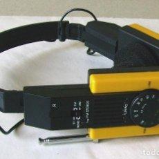 Radios antiguas: AURICULARES CON RADIO. PANATONE PM-038. FUNCIONAN. Lote 83806608