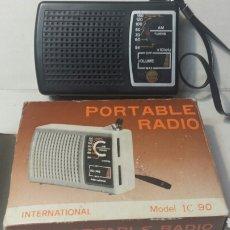Radios antiguas: TRANSISTOR ANTIGUO CON CAJA ORIGINAL AÑOS 70 FUNCIONA PERFECTAMENTE. Lote 83837678