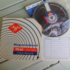 Radios antiguas: CINTA DE MAGNETÓFONO. AGFA MAGNETOBAND 14,5 CM. CREO QUE GRABADA BOBINA MAGNETOFON.REEL TO REEL . Lote 85123400