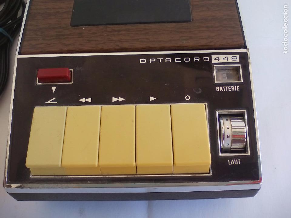 Radios antiguas: Loewe OPTA, optacord 448 co su funda. Reproductor de cintas cassette vintage, años 70. Casete. - Foto 2 - 86142308
