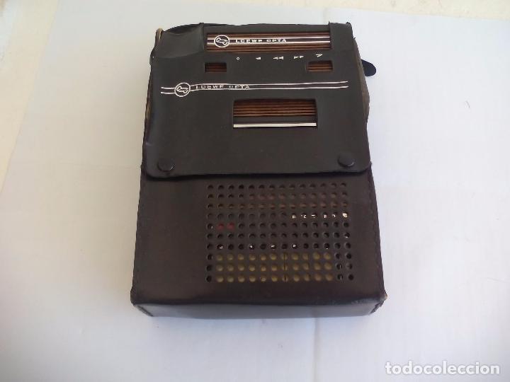Radios antiguas: Loewe OPTA, optacord 448 co su funda. Reproductor de cintas cassette vintage, años 70. Casete. - Foto 3 - 86142308