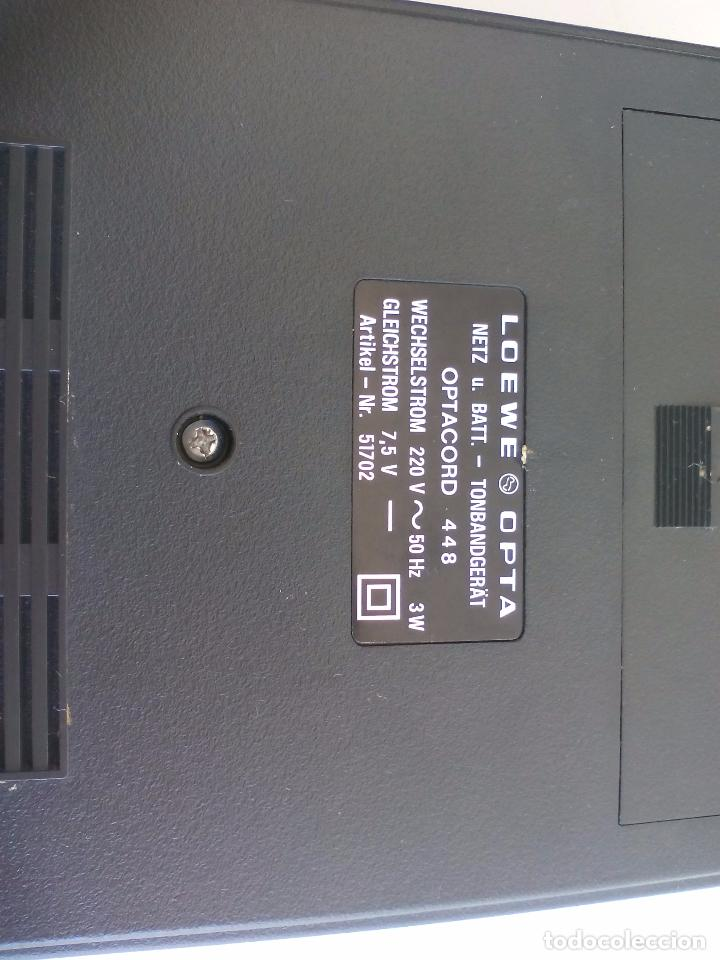 Radios antiguas: Loewe OPTA, optacord 448 co su funda. Reproductor de cintas cassette vintage, años 70. Casete. - Foto 6 - 86142308