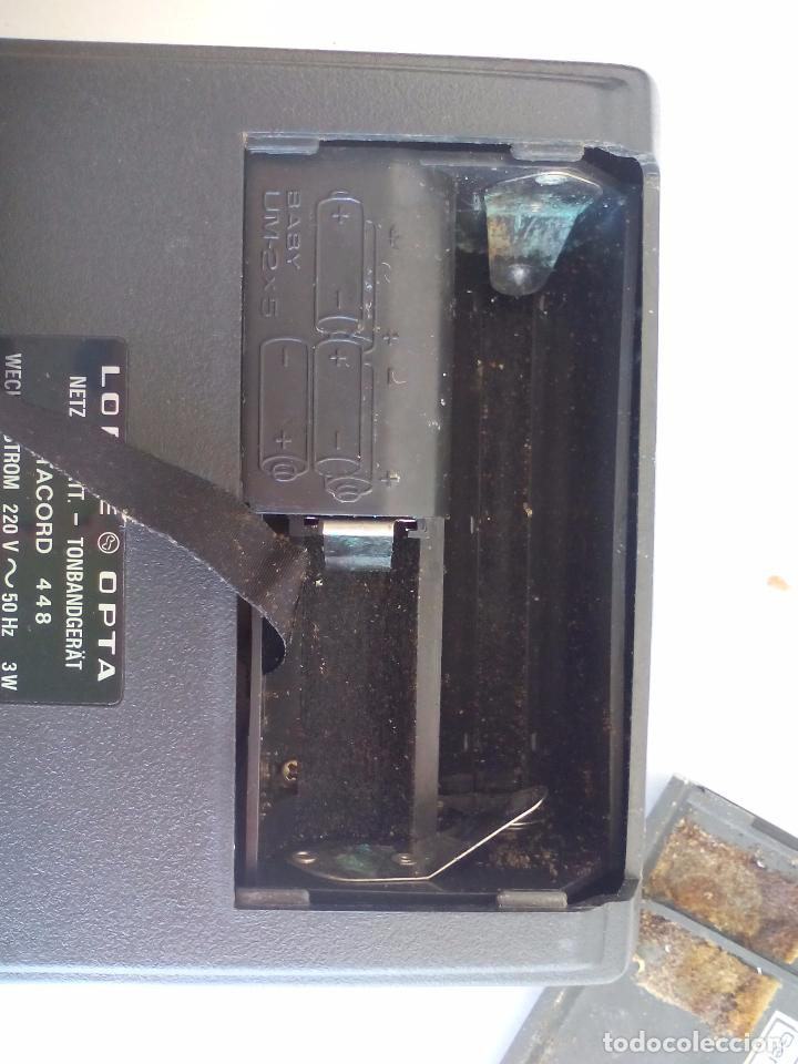 Radios antiguas: Loewe OPTA, optacord 448 co su funda. Reproductor de cintas cassette vintage, años 70. Casete. - Foto 7 - 86142308