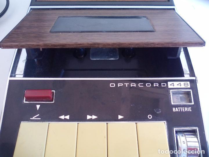 Radios antiguas: Loewe OPTA, optacord 448 co su funda. Reproductor de cintas cassette vintage, años 70. Casete. - Foto 11 - 86142308