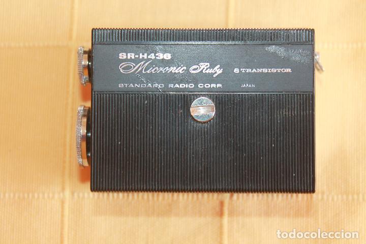 Radios antiguas: Radio miniatura para coleccionista, Standard Radio Corp. Japan, Micronic Ruby SR-H436 en su caja - Foto 2 - 86188300