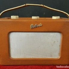 Radios antiguas: RADIO ROBERTS. MODELO RT-1. FUNCIONAMIENTO A PILAS. TRANSISTORES. CIRCA 1950.. Lote 86541404