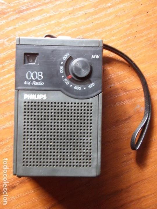 RADIO TRANSISTOR PHILIPS 008 FUNCIONANDO (Radios, Gramófonos, Grabadoras y Otros - Transistores, Pick-ups y Otros)