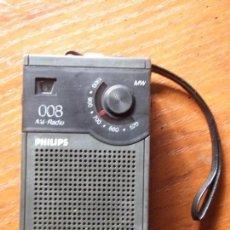 Radios antiguas: RADIO TRANSISTOR PHILIPS 008 FUNCIONANDO. Lote 87363920