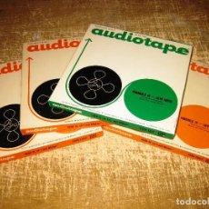 Radios antiguas: LOTE DE 4 BOBINAS MAGNETOFON...REEL TO REEL...18CM. Lote 89090692