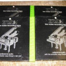 Radios antiguas: LOTE DE 4 BOBINAS MAGNETOFON...REEL TO REEL...18 CM. Lote 89090840