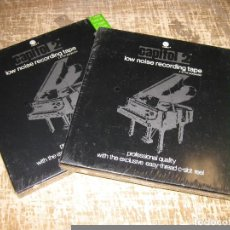 Radios antiguas: LOTE DE 2 BOBINAS MAGNETOFON REEL TO REEL... NUEVAS PRECINTADAS 18CM. Lote 89090980