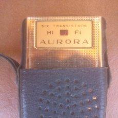 Radios antiguas: ANTIGUO Y ORIGINAL TRANSISTOR AURORA. Lote 89529700