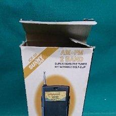 Radios antiguas: RADIO TRANSISTOR SUNNY SUPER BASS. Lote 89791224