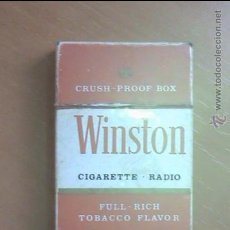 Radios antiguas: RADIO PAQUETE TABACO WINSTON. Lote 36955069