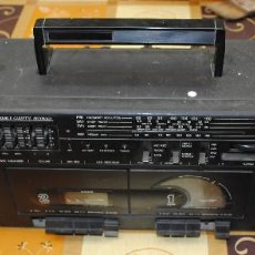 Radios antiguas: STEREO RADIO DOUBLE CASSETTE RECORDER. FUNCIONA. Lote 92735710