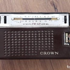 Radios antiguas: RADIO TRANSISTOR FM/AM CROWN. Lote 94216155